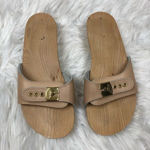 Dr. Scholl's Originals Wooden Sandals Warm Beige 7